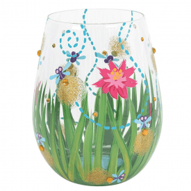 Hand Painted Firefly Glass