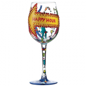 Happy Hour Wine Glass