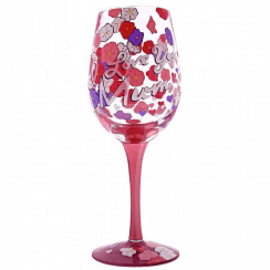 I Love You Mum Wine Glass