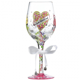 Just Married Wine Glass