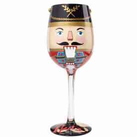 Let's Get Nuts Wine Glass