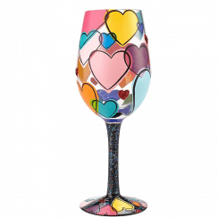 Love Is All Around Us Wine Glass