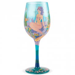Lolita Miss Mermaid Hand Painted Wine Glass