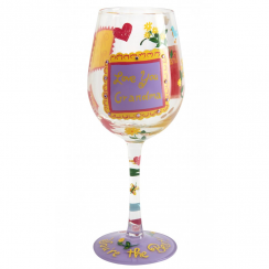 No 1 Grandma Wine Glass