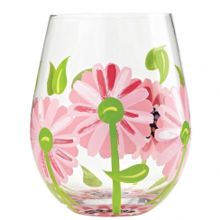 Oops a Daisy Stemless Wine Glass (Tumbler)