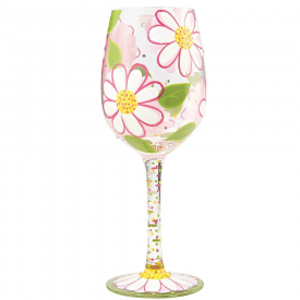 Oops I Daisied Again Wine Glass