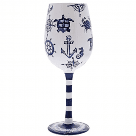Set Sail Wine Glass