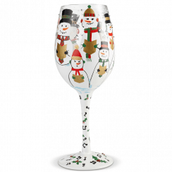 Singing in the Snow Wine Glass