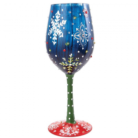 Snowy Night Wine Glass