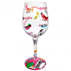 Stiletto Hand Painted Wine Glass