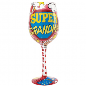 Super Grandma Wine Glass