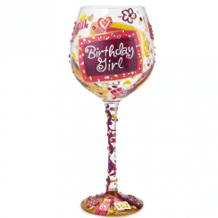 Superbling Birthday Girl Extra Large Wine Glass