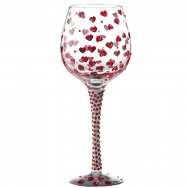 Superbling Red Hot Wine Glass