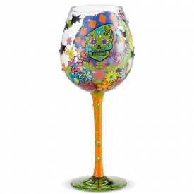 Superbling Sugar Skulls Wine Glass
