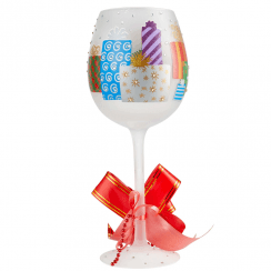 Superbling Yuletide Treasures Wine Glass