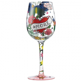 Tattoo Amore Wine Glass