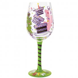 Tipsy Birthday Wine Glass