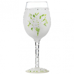 Wedding Bouquet Wine Glass