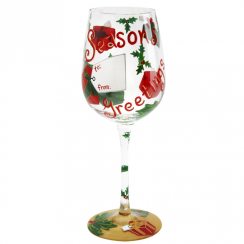 Wine Glass Seasons Greetings
