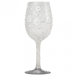 Winter Hand Painted Wine Glass