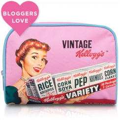 Kellogg's 50s Pink, Vintage Make Up Bag