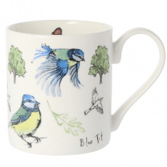 5 Blue Tit Bone China Mug