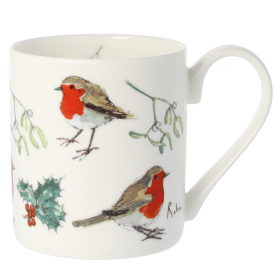 5 Robins Bone China Mug