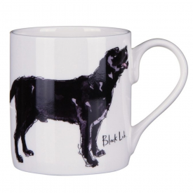 Black Labrador Bone China Mug
