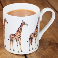 Giraffe Orange Repeat Mug