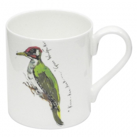 Green Woodpecker Bone China Mug