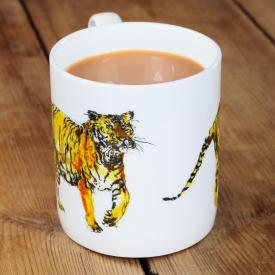 Illustrated Row Tiger Mug