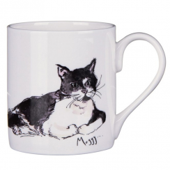 Moggy Cat Bone China Mug
