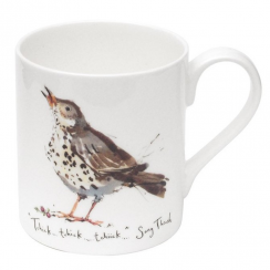 Song Thrush Bone China Mug