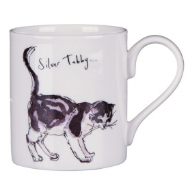 Tabby Cat Bone China Mug