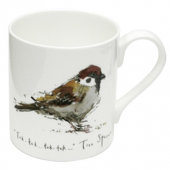 Tree Sparrow Bone China Mug