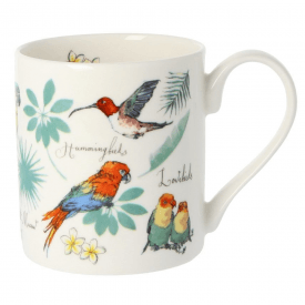 Tropical Birds Bone China Mug