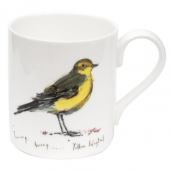 Yellow Wagtail Bone China Mug