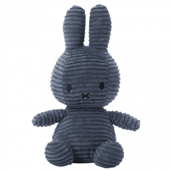 Bunny Corduroy Soft Toy, Dark Blue