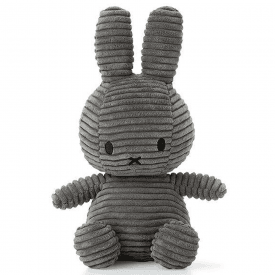 Bunny Corduroy Soft Toy, Grey