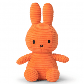 Bunny Corduroy Soft Toy, Orange