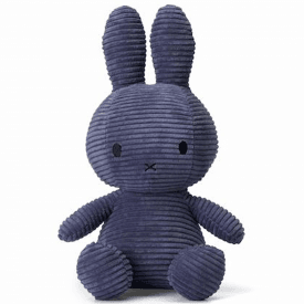 Large Bunny Corduroy Soft Toy, Dark Blue