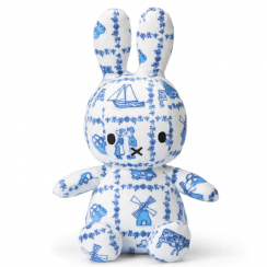Sitting Delft Bunny Soft Toy