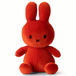 Sitting Velvet Soft Toy, Candy Orange