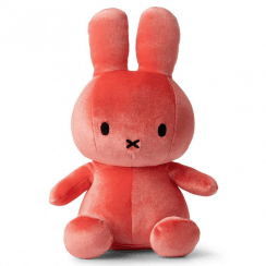 Sitting Velvet Soft Toy, Candy Pink