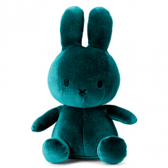 Sitting Velvet Soft Toy, Dark Teal
