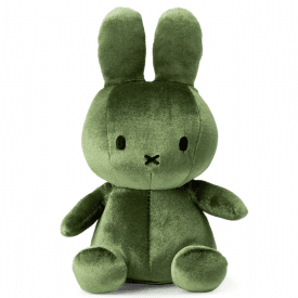 Sitting Velvet Soft Toy, Moss Green
