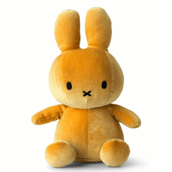 Sitting Velvet Soft Toy, Ocre