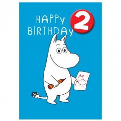 Moomin Age Badge 2 Birthday Card