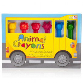 Animal Crayons Pack of 6