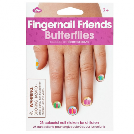Npw Fingernail Friends Nail Art Butterflies At Flamingo Gifts